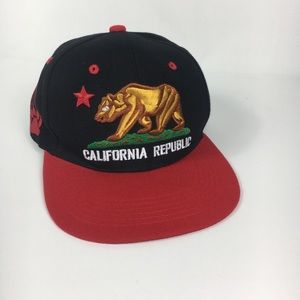 CALIFORNIA REPUBLIC Snapback Hat cali embroidered